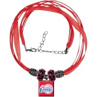 LA Clippers Women's Ribbon Bead Necklace - Red