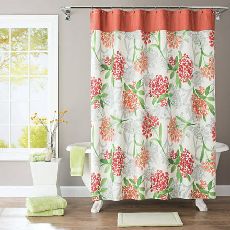 Better homes and gardens watercolor floral fabric shower Better homes and gardens shower curtains