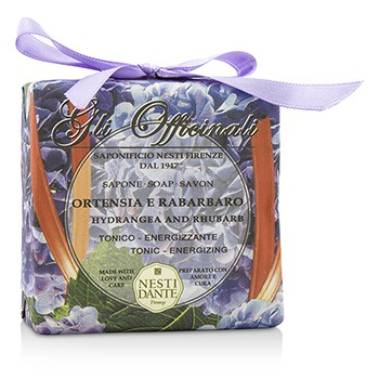 Gli Officinali Soap - Hydrangea & Rhubarb - Tonic & Energizing 7oz