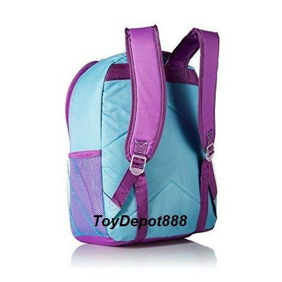 b8cf9050127e Pixar Inside Out Girls Blue Canvas 16' Large School Backpack Book Bag
