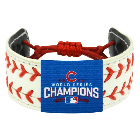 Chicago Cubs 2016 World Series Champions Classic Two Seamer Bracelet - White - No (World Series Of Poker Bracelet For Sale)