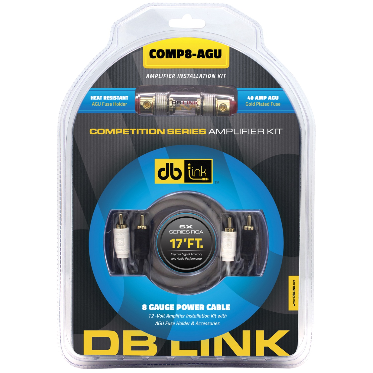 Db Link COMP8-AGU Competition Series Amp Installation Kit (8 Gauge, Agu)