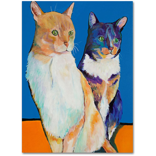 "Trademark Fine Art ""Dos Amores"" Canvas Art by Pat Saunders"
