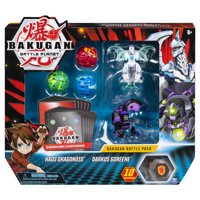 Bakugan, Battle Pack 5-Pack, Haos Dragonoid and Darkus Goreene, Collectible Cards and Figures, for Ages 6 and Up