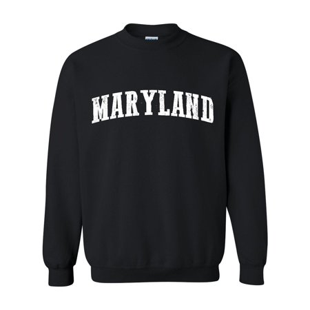 J_H_I MD Maryland Map Baltimore Flag Terrapins Terps Home University of Maryland  Unisex Crewneck Sweater