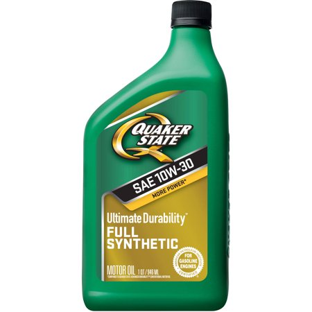Quaker state ultimate durability 10w 30 full synthetic for What is synthetic motor oil made out of