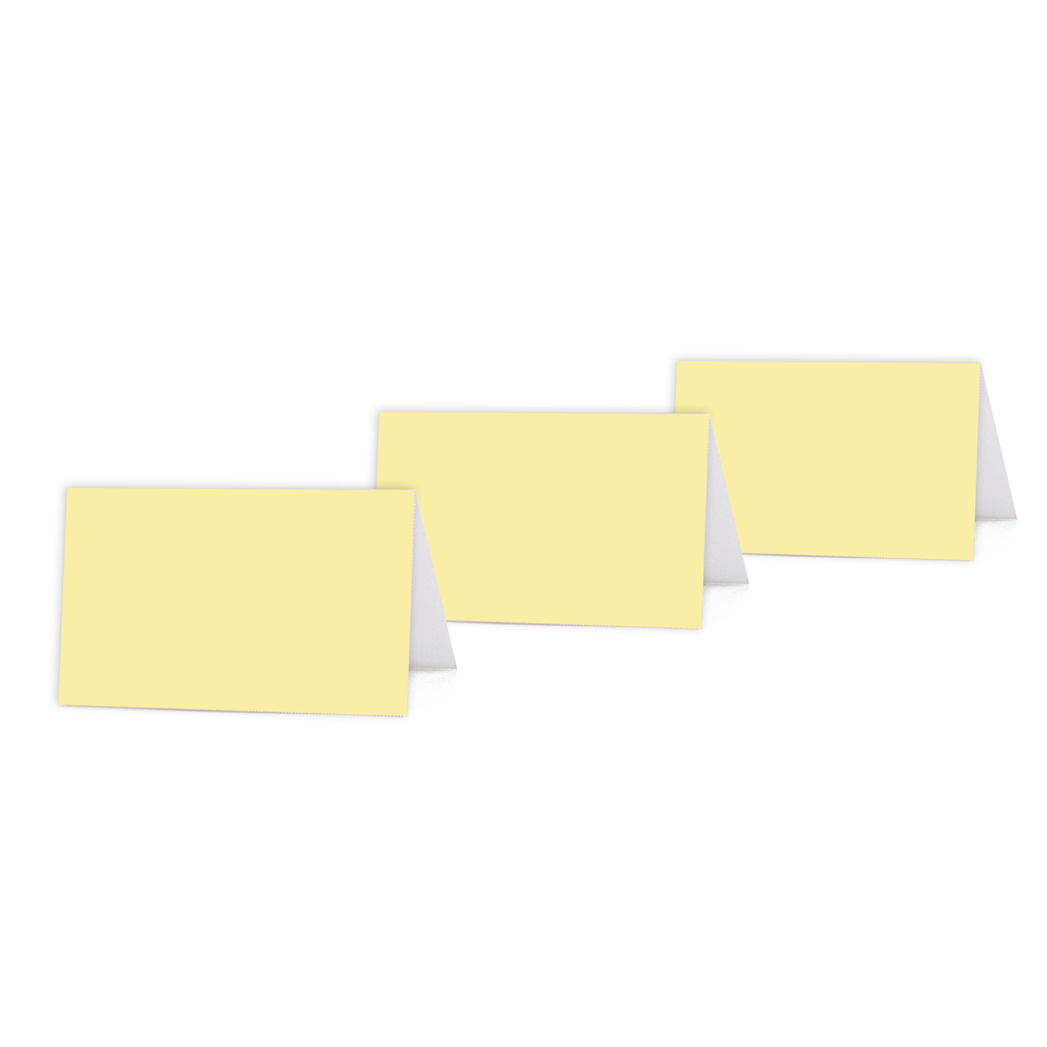 photograph relating to Printable Place Cards identify Gentle Yellow Colour Blank Desk Tent Printable Level Playing cards, 20-Pack