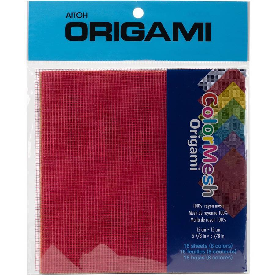 "Origami ColorMesh, 5.875"" x 5.875"" 16 Sheets, Assorted Colors"