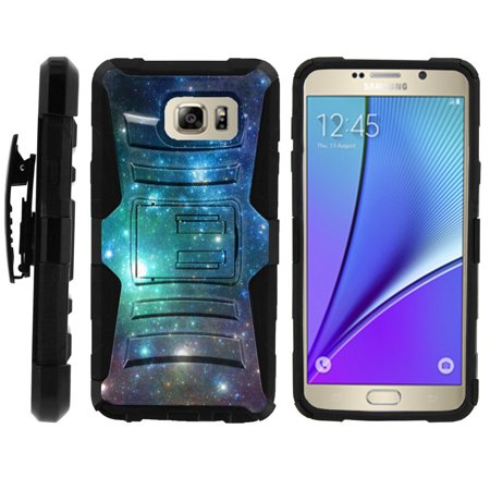 Samsung Galaxy Note 5 Case | Galaxy N920 Case [ Clip Armor ] Rugged High Impact Defense Case with Built in Kickstand + Holster - Colorful Galaxy with (Samsung Galaxy Note 8 Specs And Price)