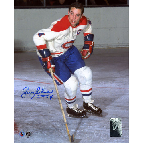 """Jean Beliveau Montreal Canadiens Autographed 8"""" x 10"""" White Jersey Skating Photograph No Size by Fanatics Authentic"""
