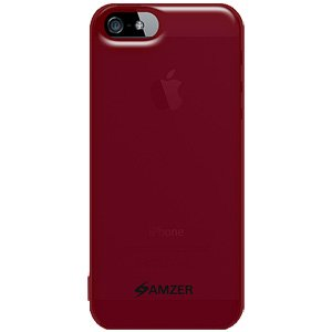 Premium Soft Gel TPU Gloss Skin Case  for iPhone 5, iPhone 5S, iPhone SE - Translucent Red