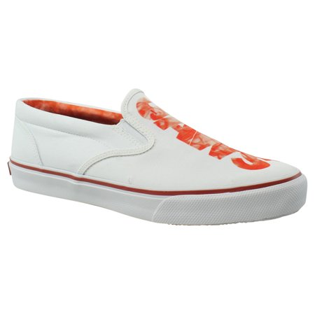 Sperry Top Sider Mens Stripers/Ologojaws White/Red Dress Loafers Size 10.5 (Sperrys Loafers Men)