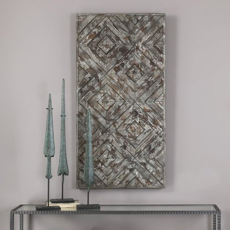 Uttermost 3 Panel - Uttermost Roland Wood Wall Art Panel