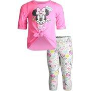 Disney Minnie Mouse Baby Girls T-Shirt Legging Set Pink 18 Months