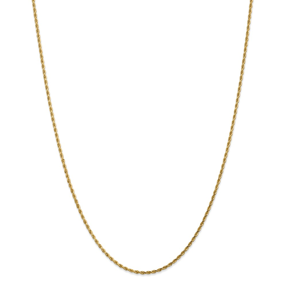 14k Yellow Gold 1.75mm Diamond Cut Rope Chain 20in Necklace