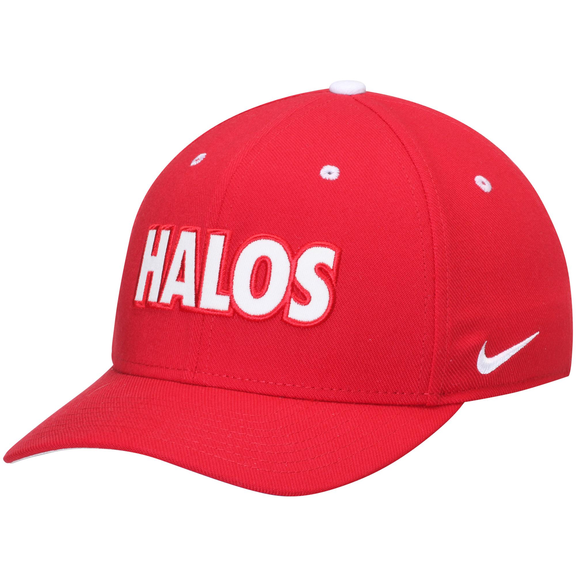 Men's Nike Red Los Angeles Angels Local Classic Swoosh Performance Flex Hat