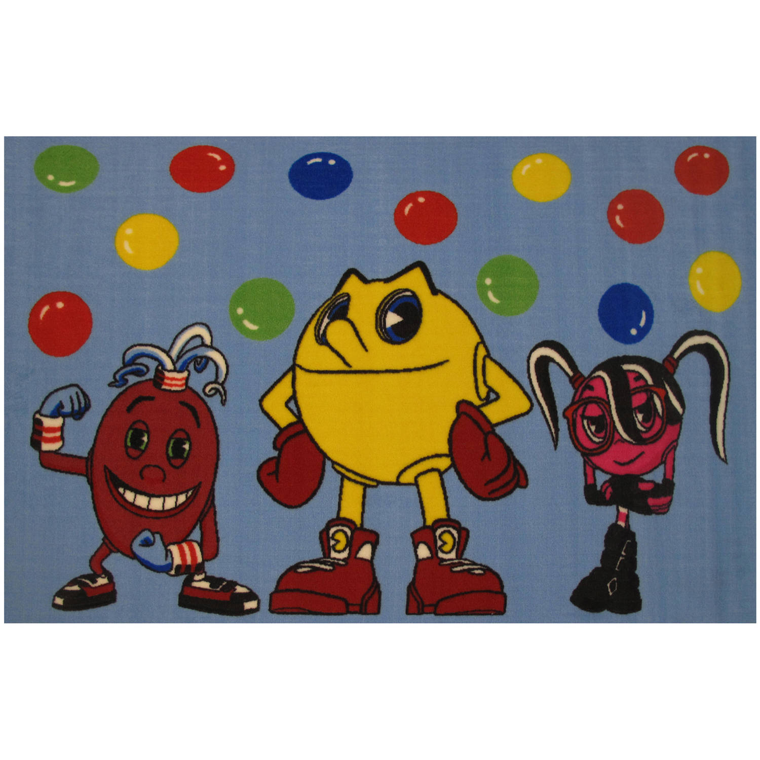 Fun Rugs Pac-Man Pac and Friends Kids Rug