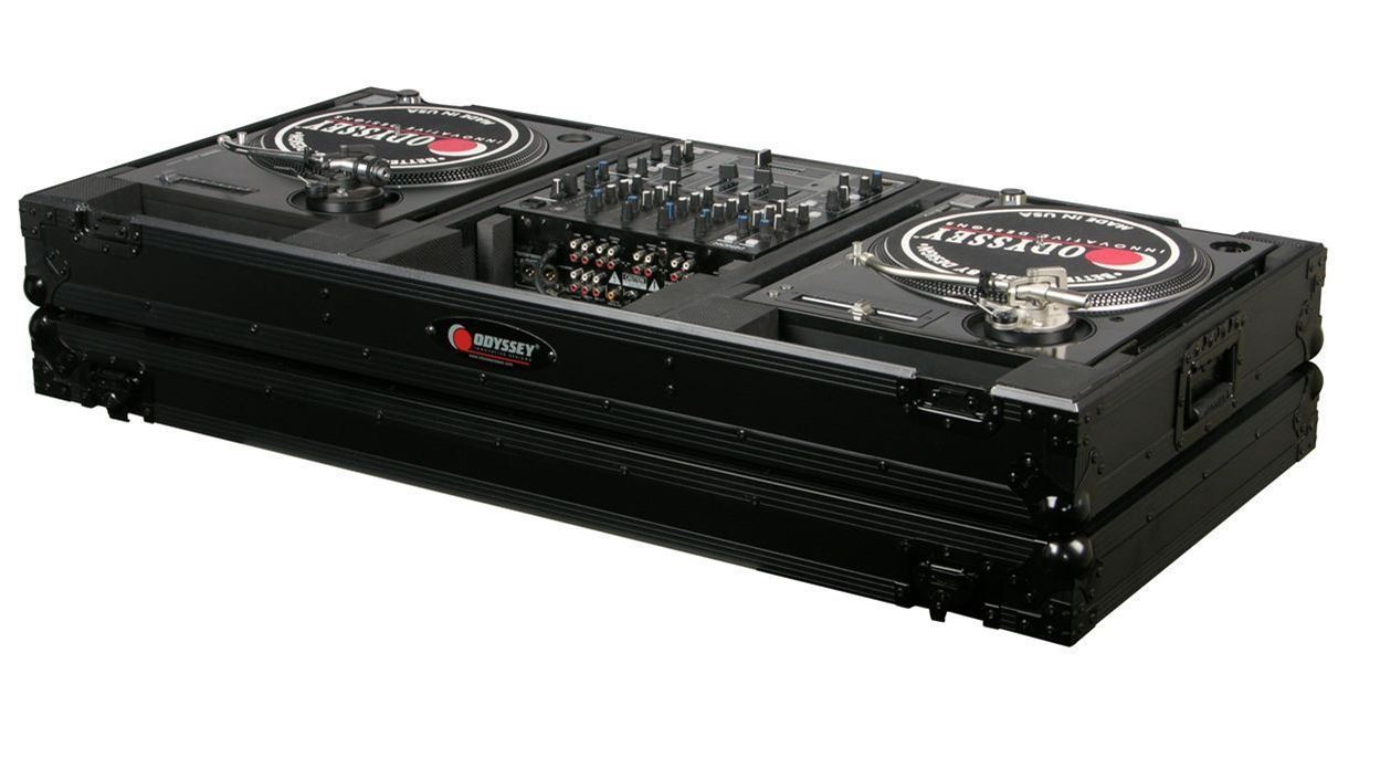 "Odyssey Black Label FZBM12WBL Turntable Battle Coffin w Wheels-12"" Inch DJ Mixer by Odyssey"