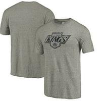 Los Angeles Kings Throwback Logo 1988-1989 Tri-Blend T-Shirt - Ash