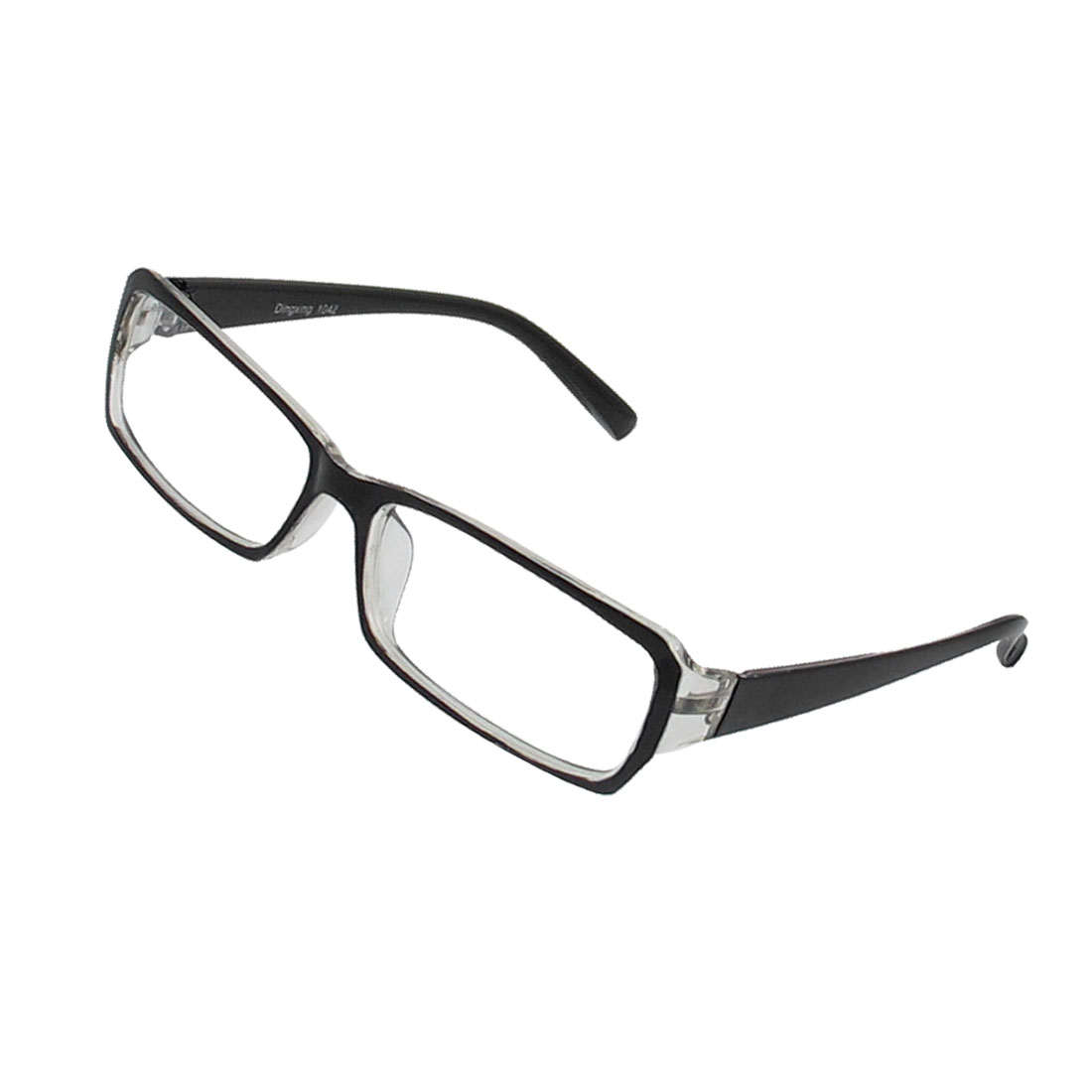 Unique BargainsWomen Plastic Full Frame Plain Spectacles Eyeglasses Black Clear - image 1 de 1