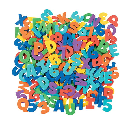 Fun Express - Adhesive Foam Letters And Numbers 504pc - Craft Supplies - Foam Shapes - Regular - 504 Pieces