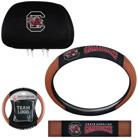 Gamecocks String (South Carolina Gamecocks Steering Wheel Cover and Head Rest Combo - No Size)