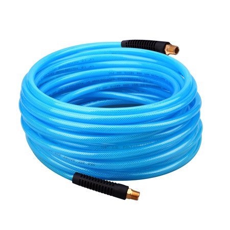 WYNNsky Reinforced Polyurethane (PU) Air Hose, 50 Feet x 1/4 Inch, 300 PSI, PU Air Compressor Hose  With 1/4
