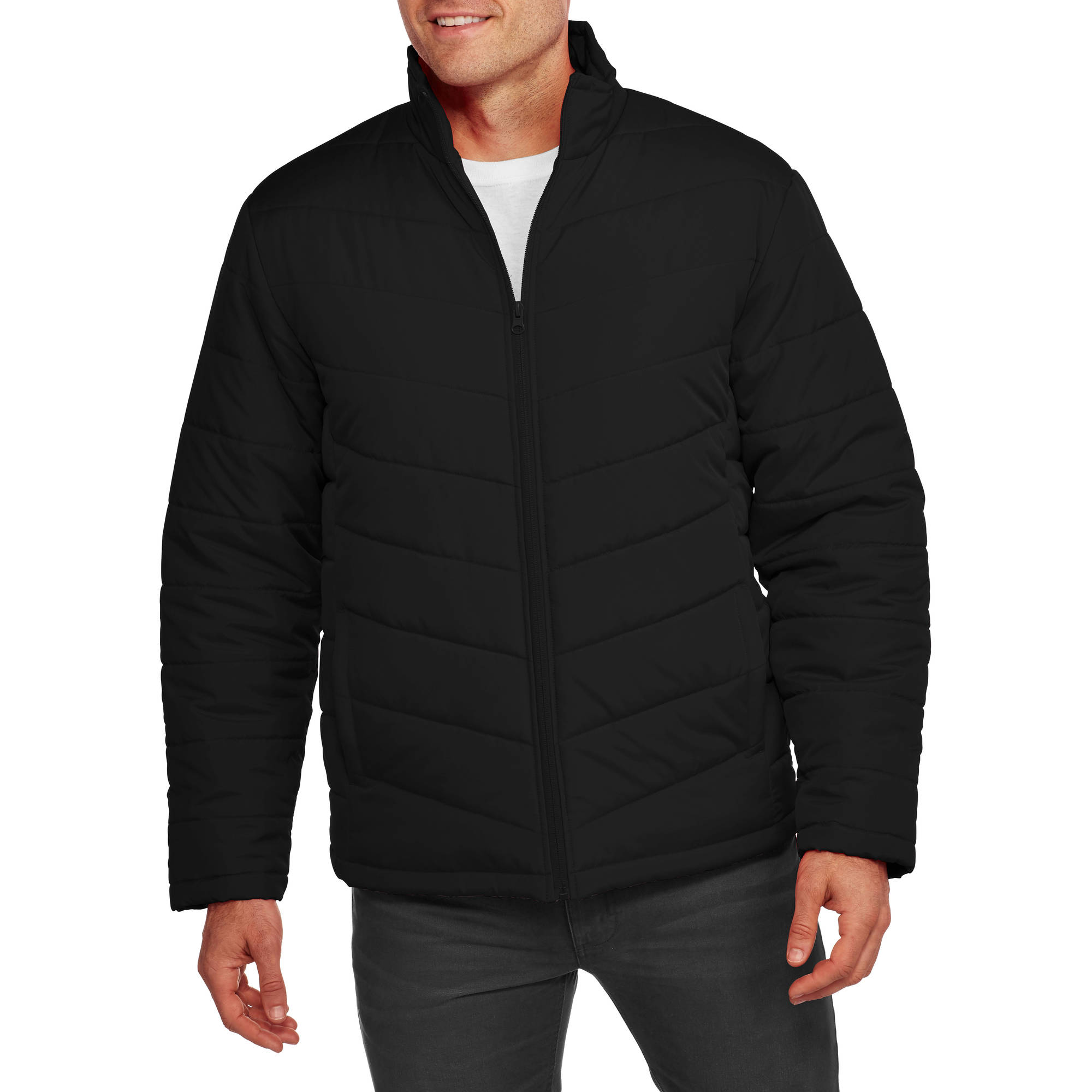Faded Glory Men's Light Bubble Jacket