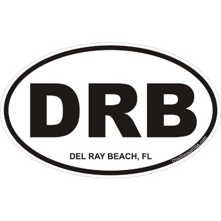 3.8 Inch Del Ray Beach Florida Oval Decal
