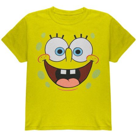 Spongebob - I'm Ready Yellow Youth Costume T-Shirt - Old Spongebob