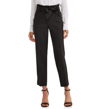 Leopard Heart Pants - Women's Paper Bag Waist Pant
