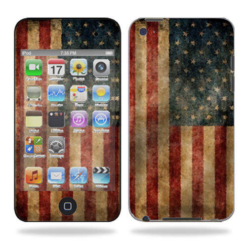 Skin Decal Wrap for iPod Touch 4G 4th Generation Vintage Flag