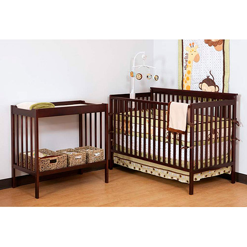 Storkcraft Milan Crib and Changer Combo, Cherry