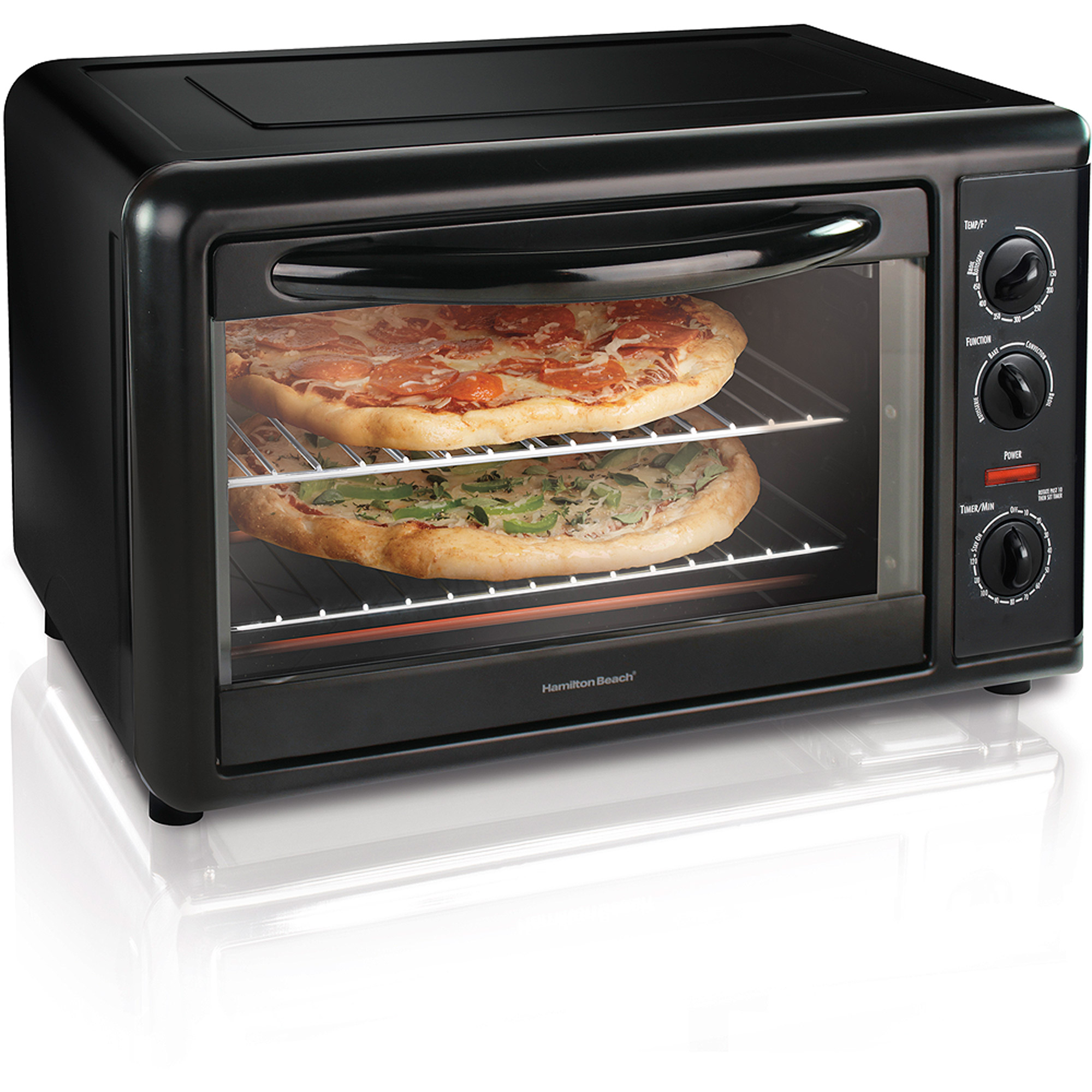 Hamilton Beach Countertop Oven With Convection Rotisserie Black Model 31101