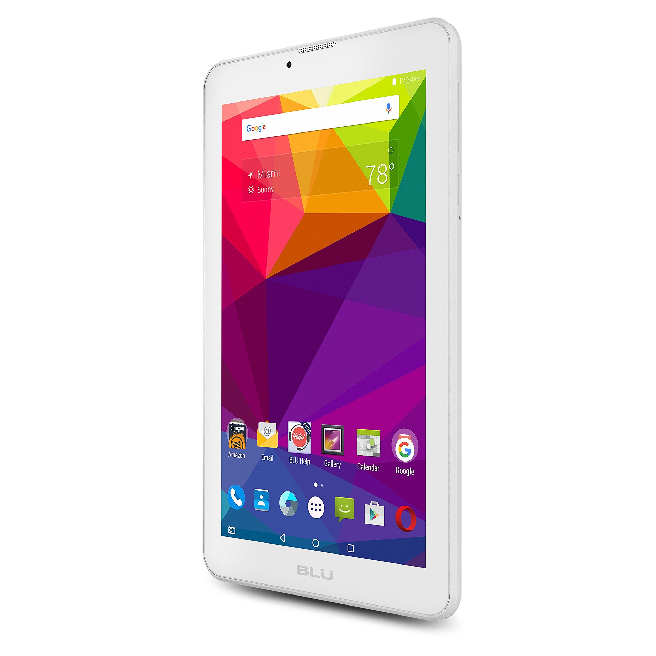 "BLU Touchbook M7 7"" 8GB Tablet Android 5.1 Lollipop, White"