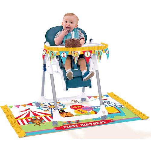 Fisher Price 1st Birthday Circus High Chair Decorating Kit 2pc