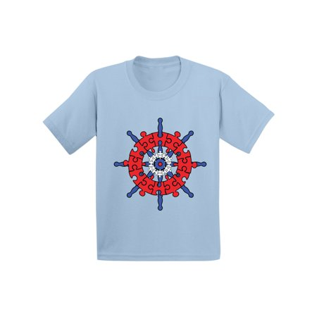 Awkward Styles Captain Puzzle Tshirt for Autism Awareness Autism Toddler Shirt Autism Gifts for Toddler Boy Autism Awareness Tshirt for Toddler Girl Autistic Pride Outfit Autism Puzzle Shirts for Kids - Optimus Prime Outfit