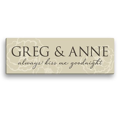 Personalized Always Kiss Me Goodnight 6