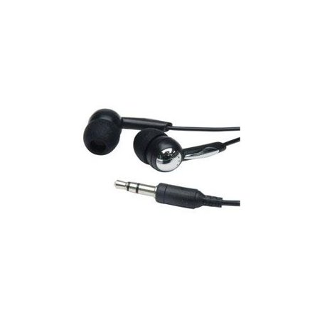 Mobilespec / Basic In-Ear Earbud Headphone W/Chrome Accent For Ipods/Mp3 Players - 3.5Mm Black Multi-Colored