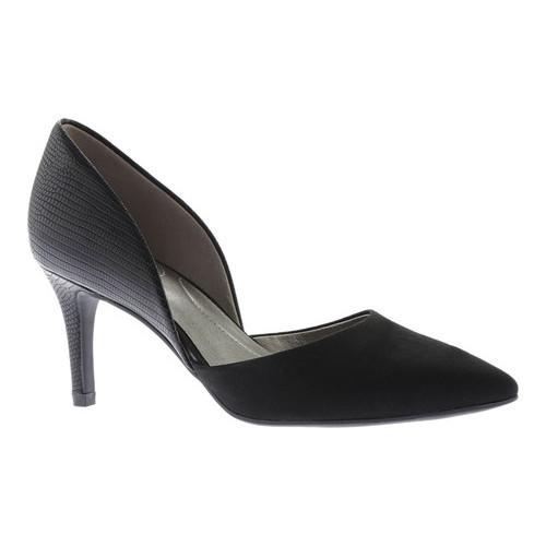 womens bandolino grenow kitten-heel pumps, black/black