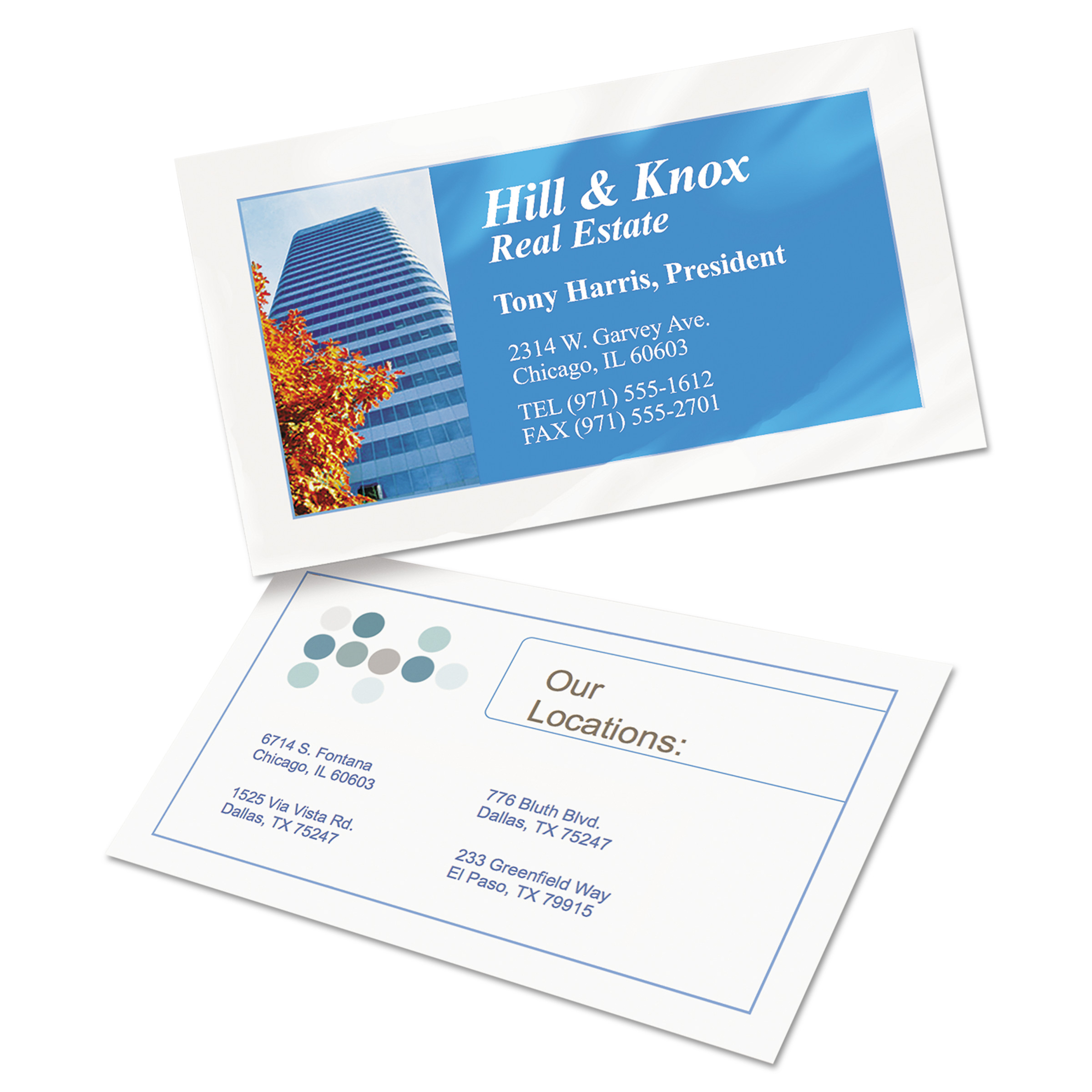 Avery Clean Edge Business Cards, Inkjet, 2 x 3 1/2, Glossy White ...