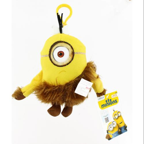"Minion Movie 5"" Clip On Plush: Jungle Minion (1 Eye)"