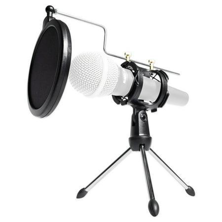 rockville rtms21 podcast podcasting dynamic microphone stand filter shock mount. Black Bedroom Furniture Sets. Home Design Ideas