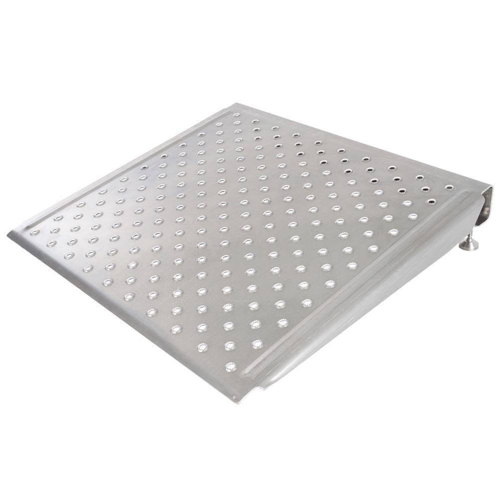 "Silver Spring 6"" High Aluminum Adjustable Threshold Ramp - 36"" L x 36"" W"