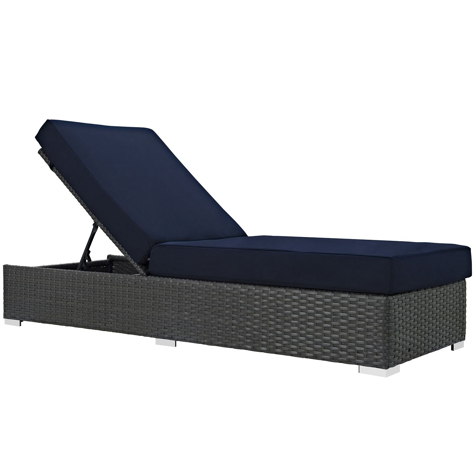 Modway Sojourn Outdoor Patio Sunbrella Chaise Lounge, Multiple Colors by Modway