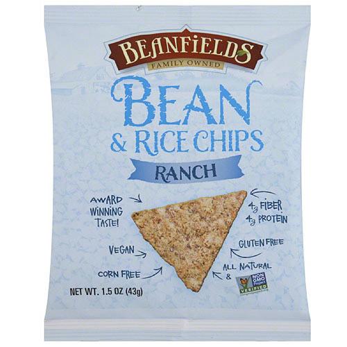 Beanfields Ranch Bean & Rice Chips, 1.5 oz, (Pack of 24)