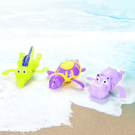 Plastic Baby Toys - 3 pcs Baby Bath Toy Plastic Wind-up Swimming Shower Toy