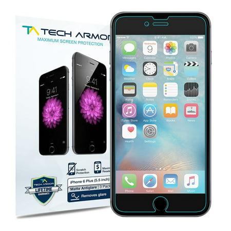 wholesale dealer 73e9b 2673b iPhone 6 Plus Screen Protector, Tech Armor Matte  Anti-Glare/Anti-Fingerprint Apple iPhone 6S/iPhone 6 Plus (5.5-inch) Film  Screen Protector [3-Pack]