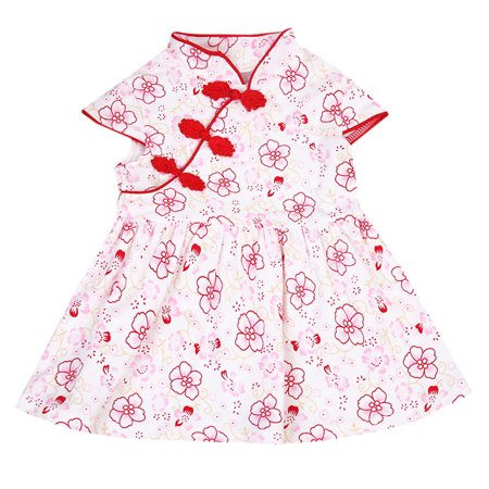 8403563c5b5b 2019 Toddler Girls Baby Clothes Floral Skirt Dress Outfits Set Red 6-12  Months