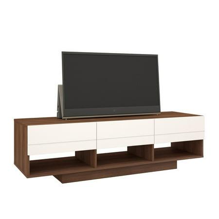 60 Inch Walnut - Nexera Sequence 60 inch TV Stand, Walnut and White
